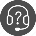 help, info, information, live chat, operator, service, support icon