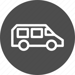 car, delive, deliver, delivery, go, road, ship, shipping, traffic, transfer, transport, transportation, travel, truck, vacation, van, vehicle icon