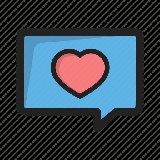 chat, heart, love, message, valentine, valentines icon