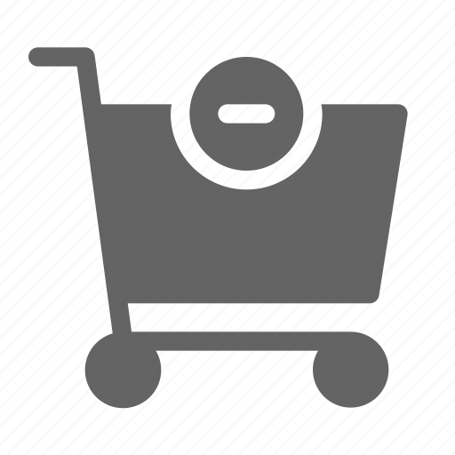cart, from, remove, shopping icon