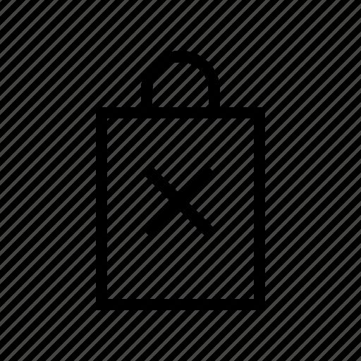 bag, commerce, delete, market, shop, supermarket icon