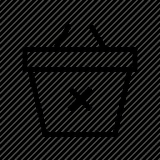 basket, commerce, delete, market, shop, supermarket icon