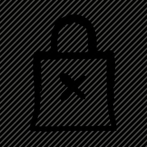 bag, commerce, delete, interface, shop, ui, ux icon