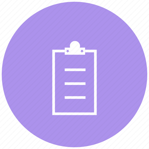 document, linepad, notepad, pad, paste, survey icon