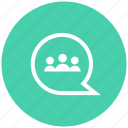 brainstorm, connection, discussion, group, network icon