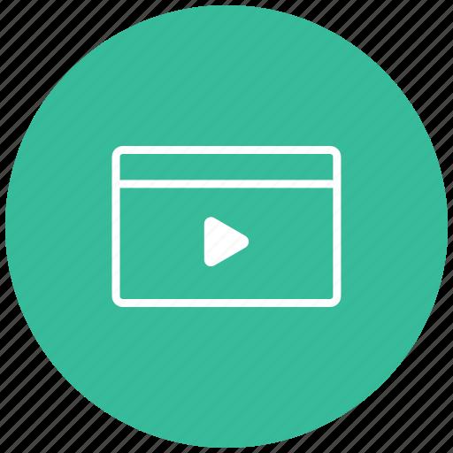 go, media, music, play, start, video icon