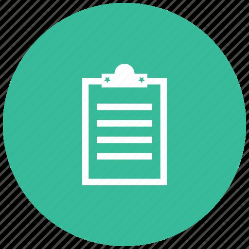 document, notepad, pad, paste, survey icon