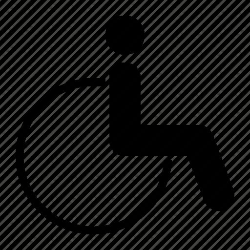 Armchair, wheelchair, disability, invalid icon