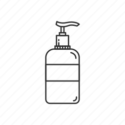 bath, bottle, conditioner, hair, liquid soap, lotion, shampoo icon