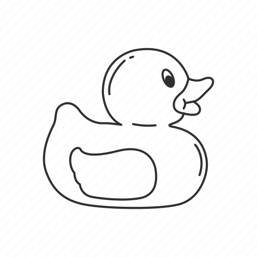 animals, bath, duck, rubber, rubber duck, rubber ducky, toy icon