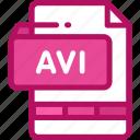 avi, file, format, movie, multimedia, video icon