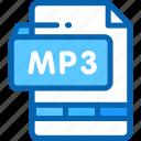 audio, file, format, mp3, multimedia icon
