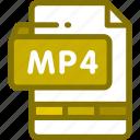 file, format, mp4, multimedia, video icon