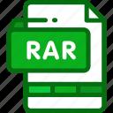 archive, document, file, format, rar icon