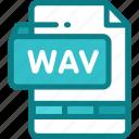 audio, file, format, multimedia, music, wav icon