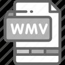 file, format, movie, multimedia, video, wmv icon