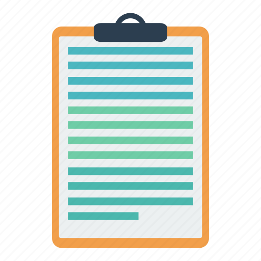 clipboard, inventory, notes, pad, scribble, stationery, text icon