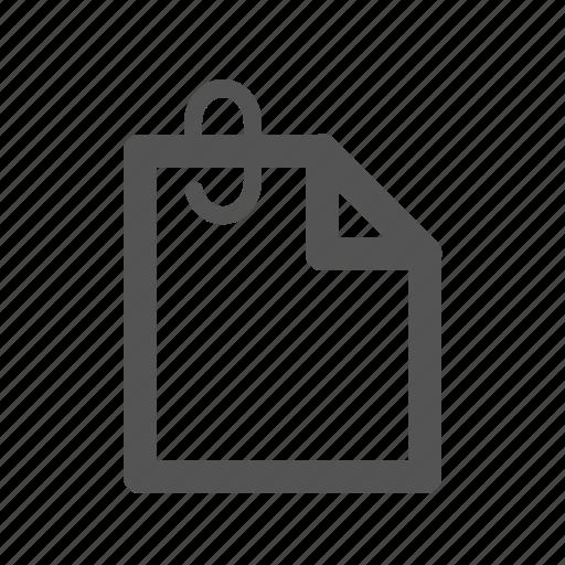 attach, clip, document, extension, file icon