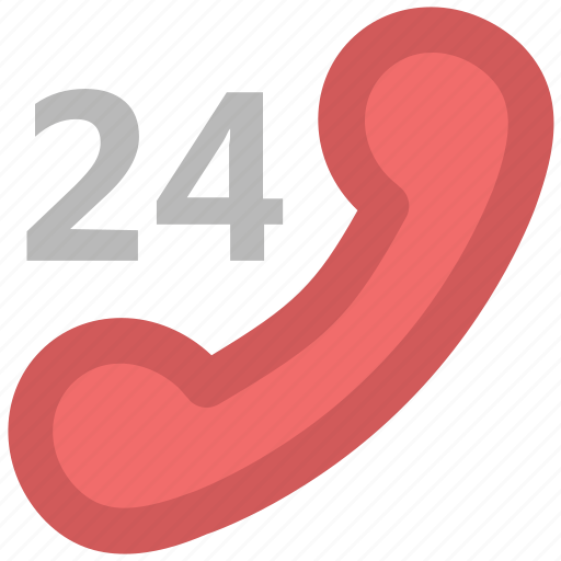 All time, contact, customer service, customer support, phone, receiver, twenty four icon - Download on Iconfinder