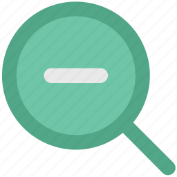magnifier, magnifying, search glass, view, zoom, zoom out icon