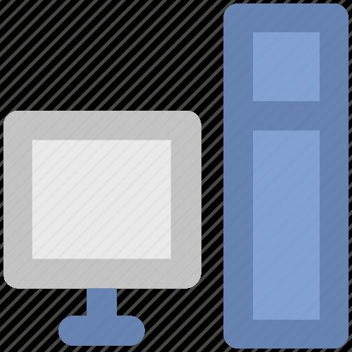 computer, desktop, micro computer, monitor, pc, personal computer, tower computer icon