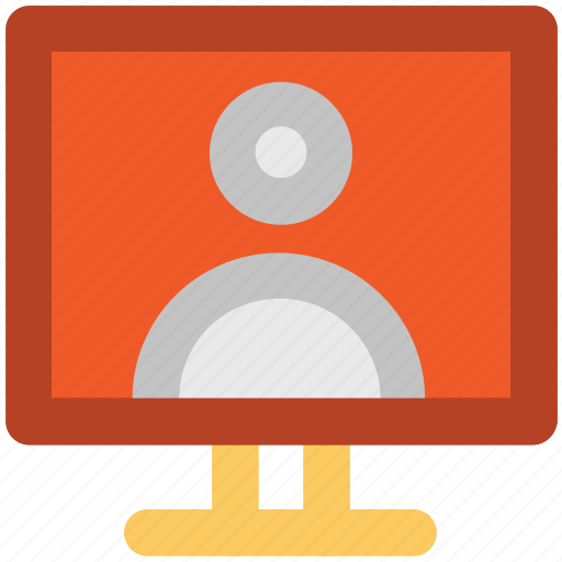 computer monitor, computer screen, video call, video chat, voice chatting icon