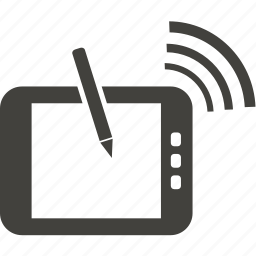 communication, connection, internet, tablet icon