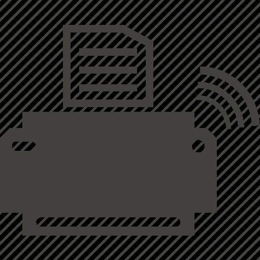 communication, connection, internet, printer icon