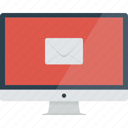 communication, computer, device, email, envelope, imac, mail, message, new message icon
