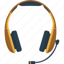 communication, headphones, headset, listen, mic, microphone, sound, speak, talk icon