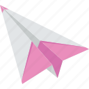 communication, flight, paper, paper plane, plane icon