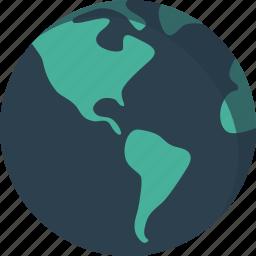 earth, map, planet, world, worldwide icon