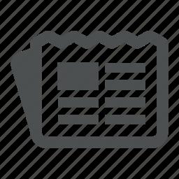 blog, feed, news, newspaper, post icon