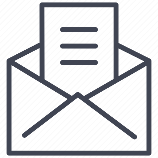 communication, document, email, envelope, mail, message icon
