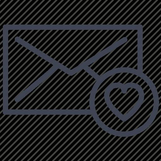 communication, envelope, favorite, favourite, message icon