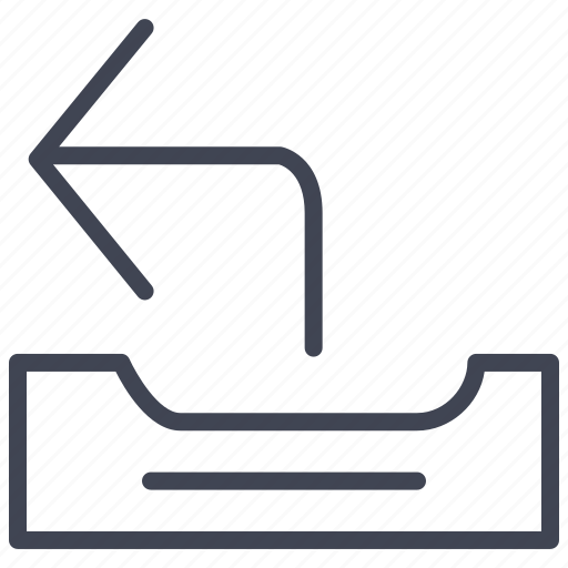 communication, mail, outgoing, paper, tray icon