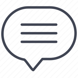 chat, communication, lines, message, round, talk icon