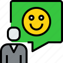 chat, communication, dialog, emotion, good, message, people icon