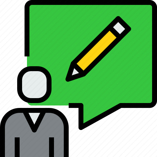 chat, communication, dialog, message, people, write icon