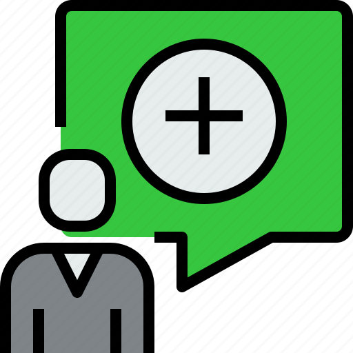 add, chat, communication, dialog, message, people icon