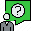 chat, communication, dialog, message, people, question icon