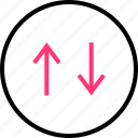 arrow, connection, data, down, up icon