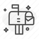 communication, letter, mail, post icon