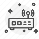 communication, modem, router, transmitter, wifi icon