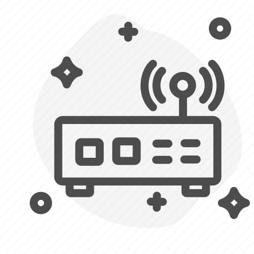communication, modem, router, transmitter, wifi icon