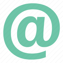 aroba, arroba symbol, at, at symbol, email, email address icon