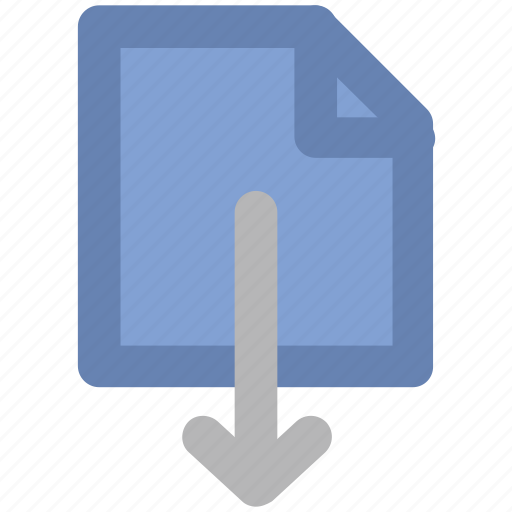 down arrow, download, download file, downloading arrow, inbox, receive arrow icon