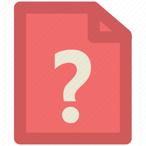 faq, question mark, uncheck document, unknown document, unnamed, unnamed documents icon