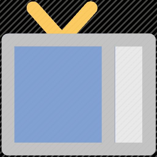 media, movie, television, tv, tv antenna, tv set, video icon