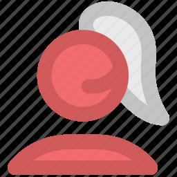 call center, call operator, corporate, customer care, female assistant, service, telemarketer icon